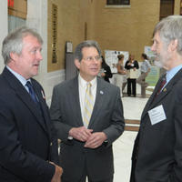 Representative Jay Kaufman in center Mike Ellenbecker on right