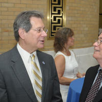 Representative Jay Kaufman on left Ken Geiser on right