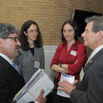 Representative Stephen DiNatale, Rachel Massey of TURI and Representative Jay Kaufman (from left to right)
