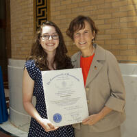 Abigail Giarrosso, Umass Lowell and Rep. Linda Campbell