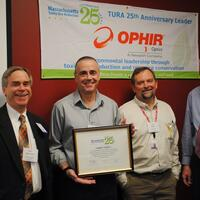 (From Left to Right) Rich Bizzozero, OTA, Frank Minich, Ophir Optics, Tim Petter, Ophir Optics and Jim Cain, OTA.