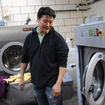 Joon Han, owner of AB Cleaners